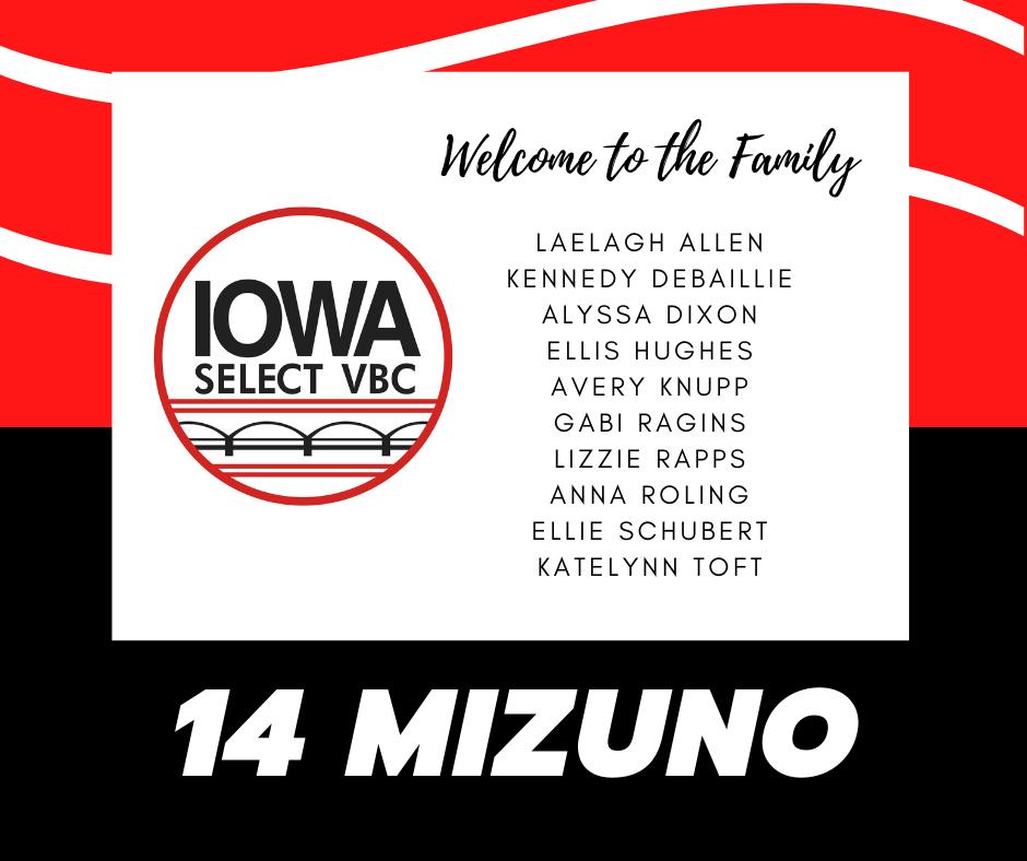 14 Mizuno roster