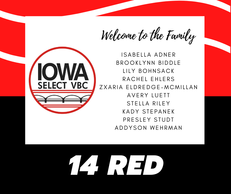 14 Red roster