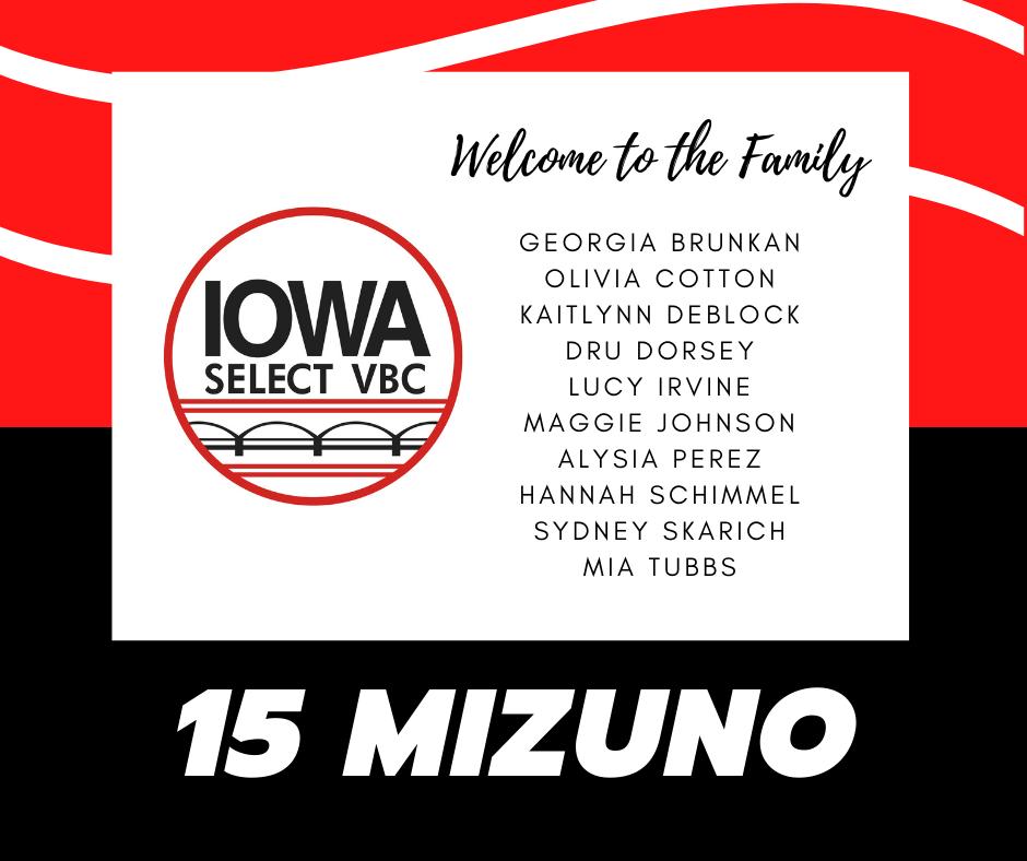 15 Mizuno roster