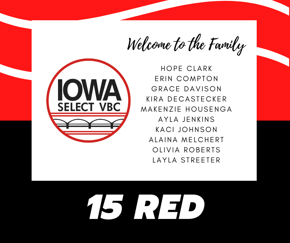 15 Red roster