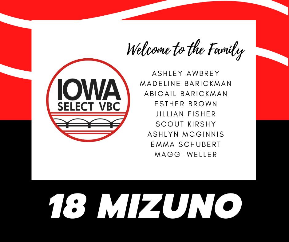 18 Mizuno roster